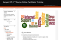Kenyan ICT CFT Course Online Facilitator Training