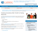Fostering Connections After 18 (AB 12) Training Resources