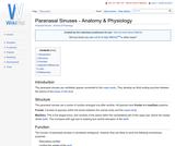 Paranasal Sinuses - Anatomy & Physiology