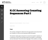 Assessing Counting Sequences Part I