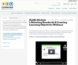 SLASL Module 1: Selecting Standards & Creating Learning Objectives Webinar