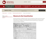 Reading Like a Historian: Slavery in the Constitution
