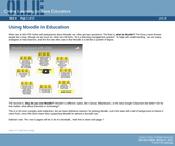 Using Moodle in Education