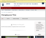 Learning Toolkit: Time Management