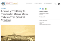 Lesson 4: Trekking to Timbuktu: Mansa Musa Takes a Trip (Student Version)