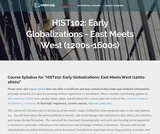 Early Globalizations: East Meets West (1200s-1600s)