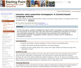 Calculez votre empreinte Ãcologique!: A Content-based Language Activity