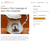Lesson 3: The Campaign of 1840: The Campaign