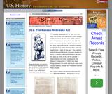 31a. The Kansas-Nebraska Act