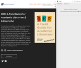 OER: A Field Guide for Academic Librarians (Editor's Cut)