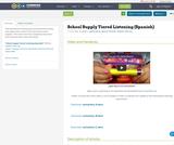 School Supply Tiered Listening (Spanish)