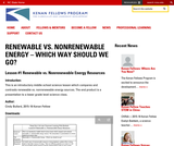 Renewable vs. Nonrenewable Energy: Which way should we go?