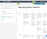 Website Writing Rubric - High School