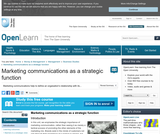 Marketing Communications as a Strategic Function