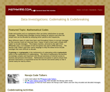 Data Investigations: Codemaking and Codebreaking
