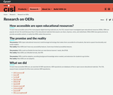 Research On OERs