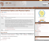 Geometrical Optics and Physical Optics