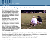 Online Mentoring: Becoming a Coach for the Online Learner