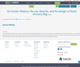 Go Green: Reduce, Re-use, Recycle, and Re-design a Plastic Grocery Bag
