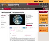 Developmental Entrepreneurship, Fall 2003