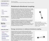 Rotational-vibrational coupling