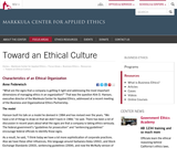 Toward an Ethical Culture