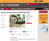 Literary Interpretation: Interpreting Poetry, Fall 2003