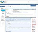 Home Energy Quiz