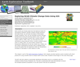 Exploring NCAR Climate Change Data Using GIS