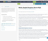 Media, English Template,  Novice High