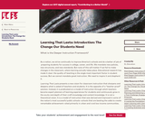 Learning That Lasts: Introduction: The Change Our Students Need