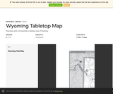 Wyoming Tabletop Map