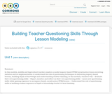 Building Teacher Questioning Skills Through Lesson Modeling
