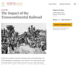 The Impact of the Transcontinental Railroad