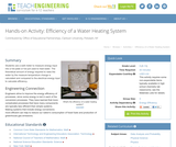 Efficiency of a Water Heating System