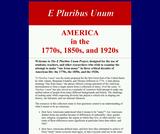 The E Pluribus Unum Project