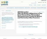 AJCU November 2015: The Study of Migration at Two Jesuit Universities: Universidad Iberoamericana Ciudad de México and University of San Francisco