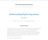 The Programming Historian 2: Understanding Regular Expressions