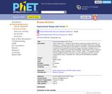 PhET Teacher Activities: Experimental Design with Forces