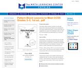 Pattern Block Lessons to Meet CCSS Grades 3-5, 1st ed., pdf