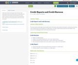 Credit Reports and Credit Bureaus