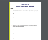 Garden Planning Worksheet