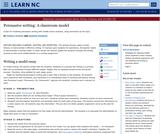 Persuasive Writing: A Classroom Model