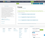 Cengage OpenNow College Success Reading & Learning Objectives - Remix