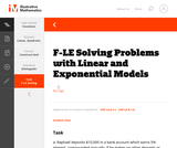 F-LE Solving Problems with Linear and Exponential Models