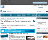 The MMR VAccine: Public Health, Private Fears