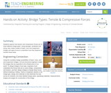 Bridge Types: Tensile & Compressive Forces