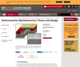 Semiconductor Optoelectronics: Theory and Design, Fall 2002