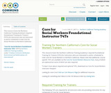 Core for Social Workers Foundational Instructor T4Ts
