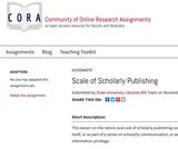Scale of Scholarly Publishing